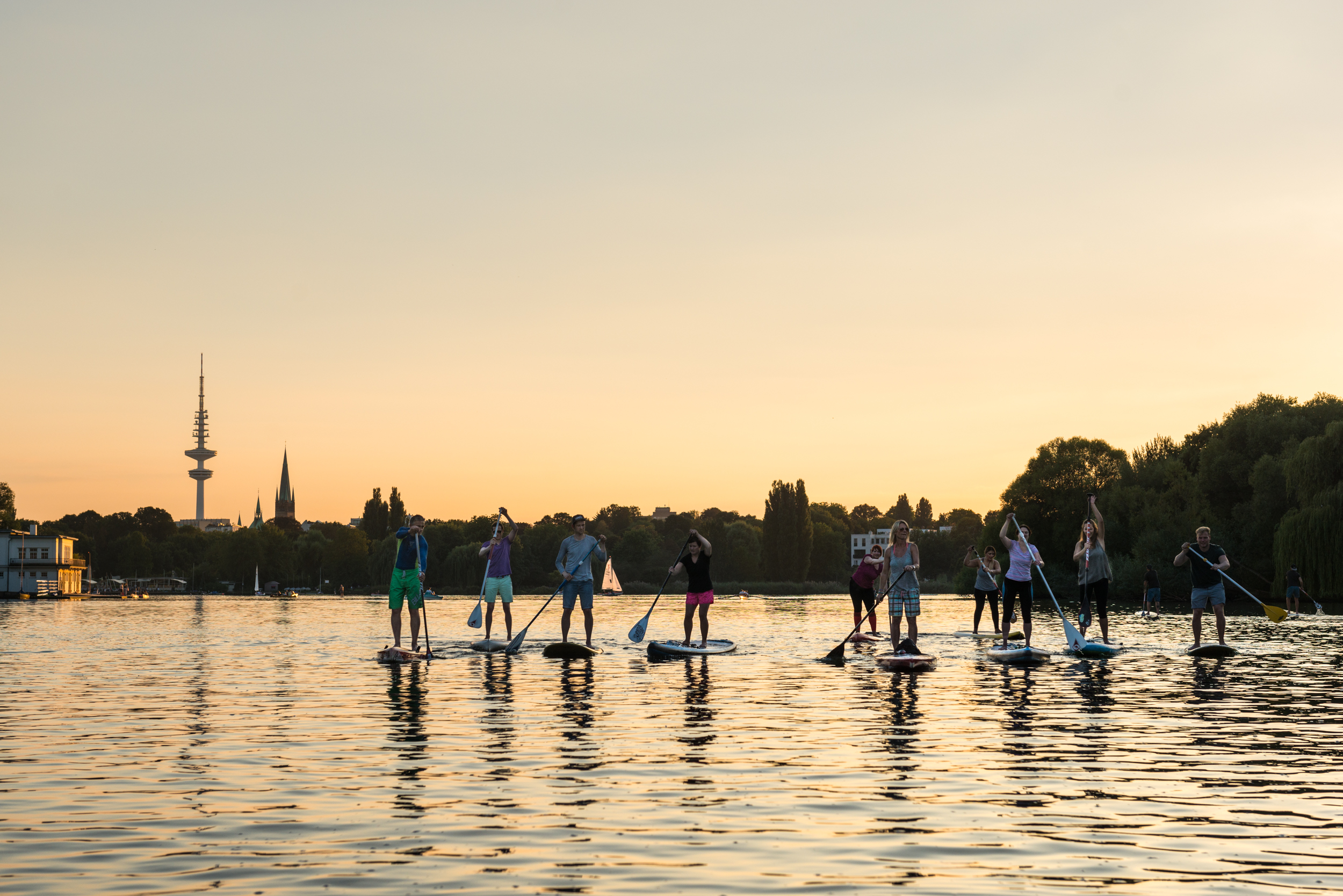 SUP Tour Alster Sundowner