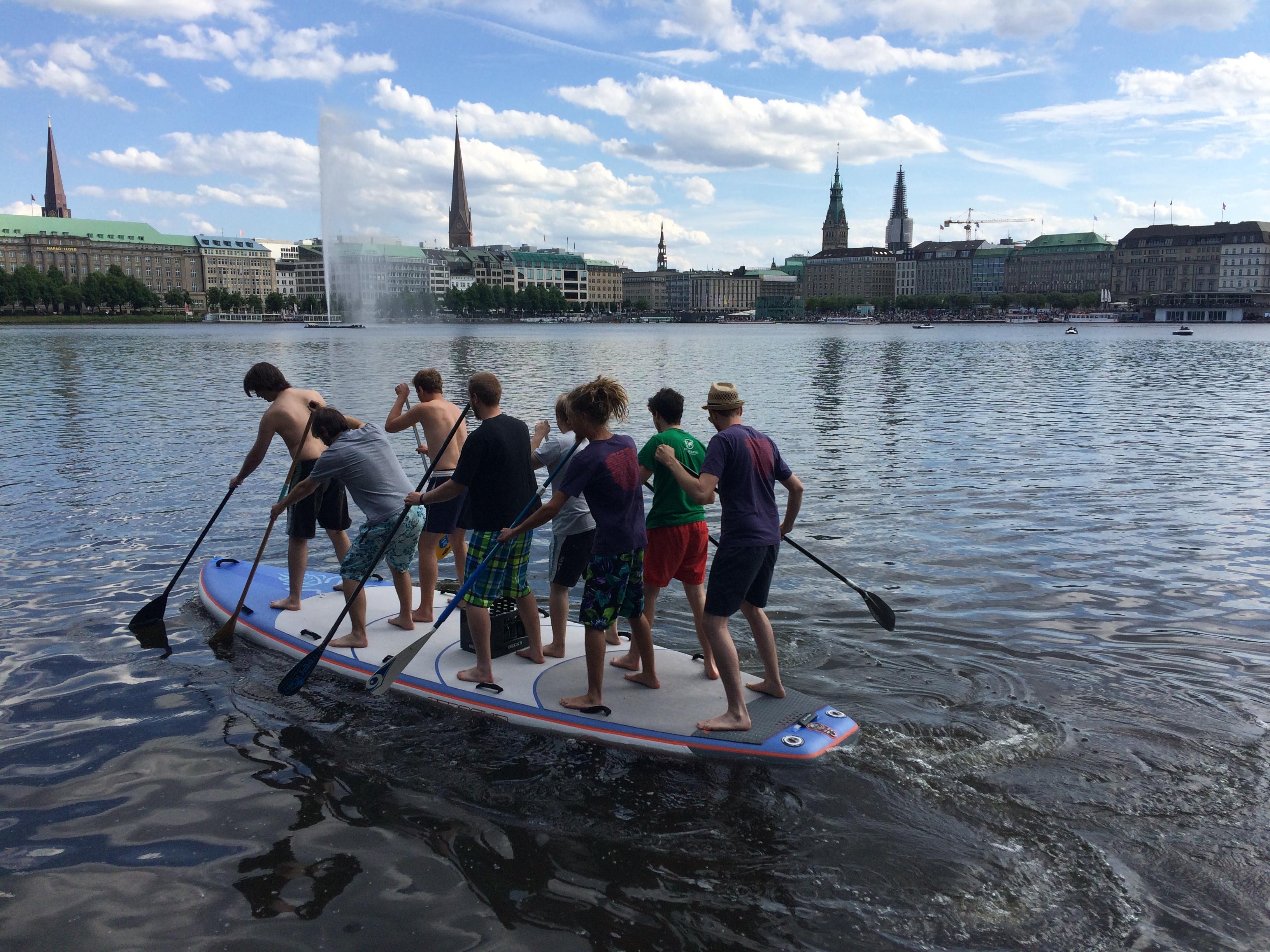 Underbar Als Team auf ein SUP | SUP Gruppenevents in Hamburg YR-56