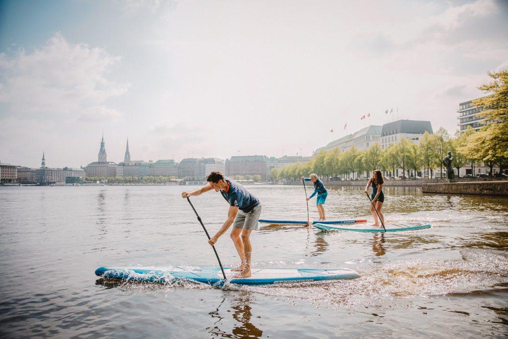 SUP Technik Alster Hamburg Stand Up Paddling Fortgeschritteme